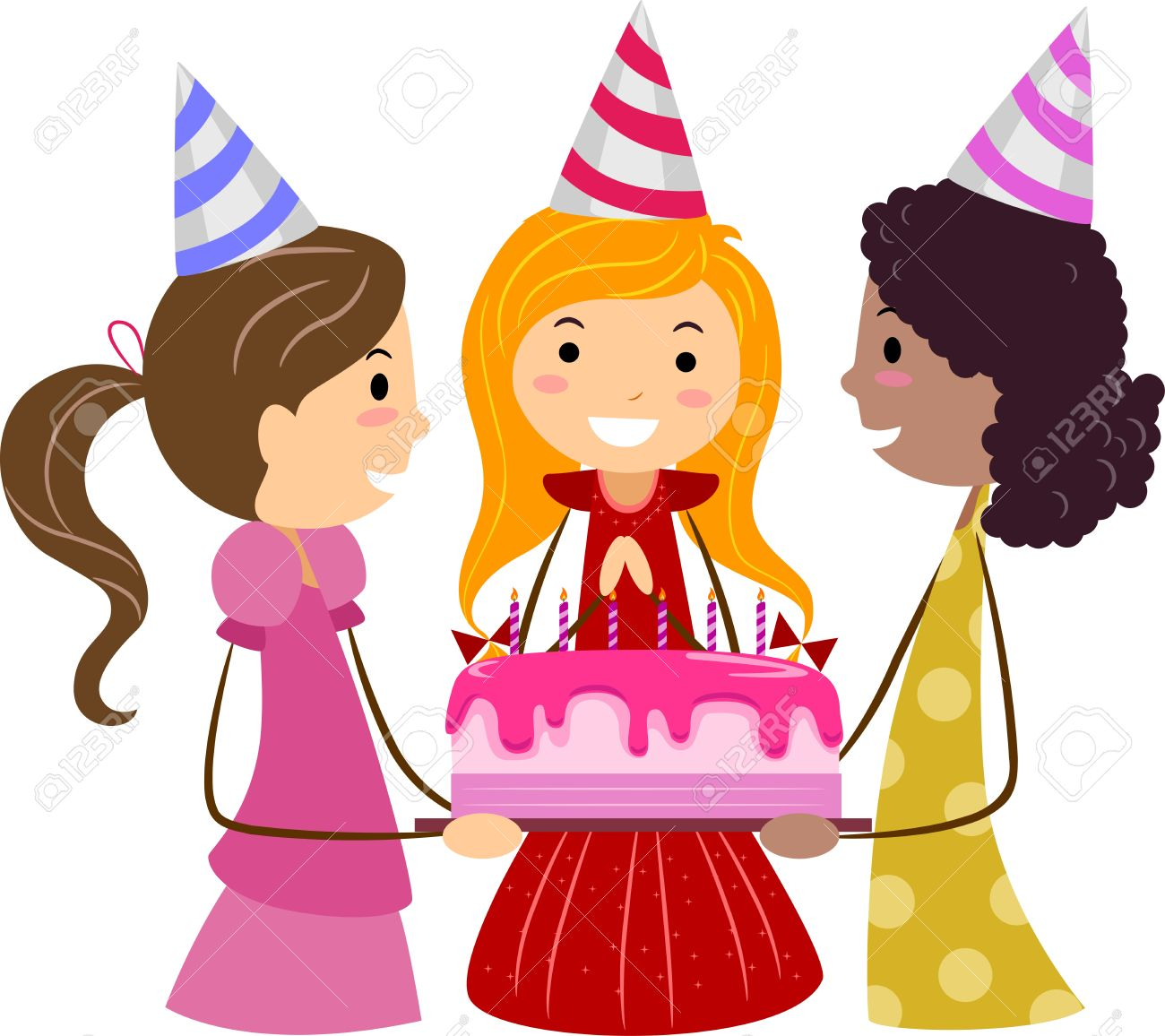 Girly birthday cake clipart clipart royalty free library Girl with birthday cake clipart - ClipartFox clipart royalty free library