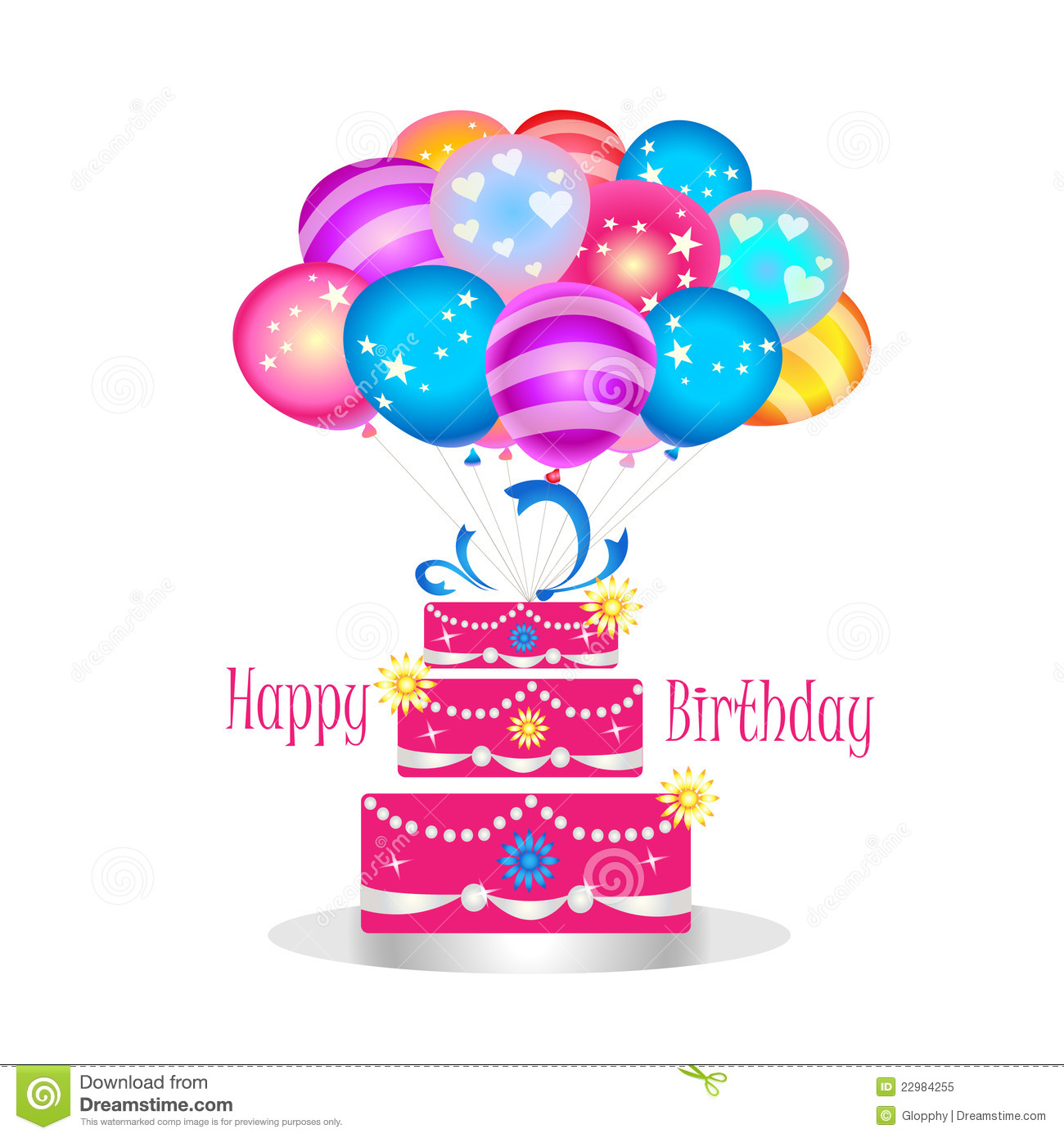 Girly birthday cake clipart image transparent Girly Happy Birthday Clipart - Clipart Kid image transparent