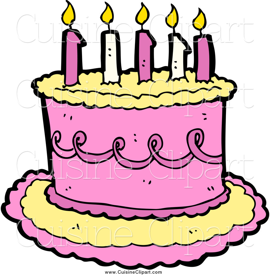 Girly birthday cake clipart jpg free library Pink birthday cake clipart - ClipartFest jpg free library
