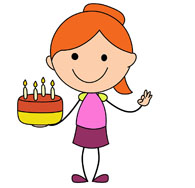 Girly birthday cake clipart download Girl with birthday cake clipart - ClipartFest download