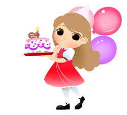 Girly birthday cake clipart graphic royalty free download Happy Birthday Girl Clipart - Clipart Kid graphic royalty free download
