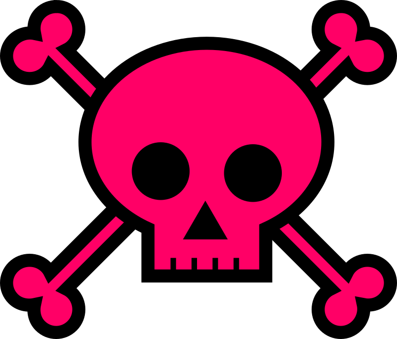 Girly cross clipart image free library Clipart - Skull and Crossbones Large Pink image free library