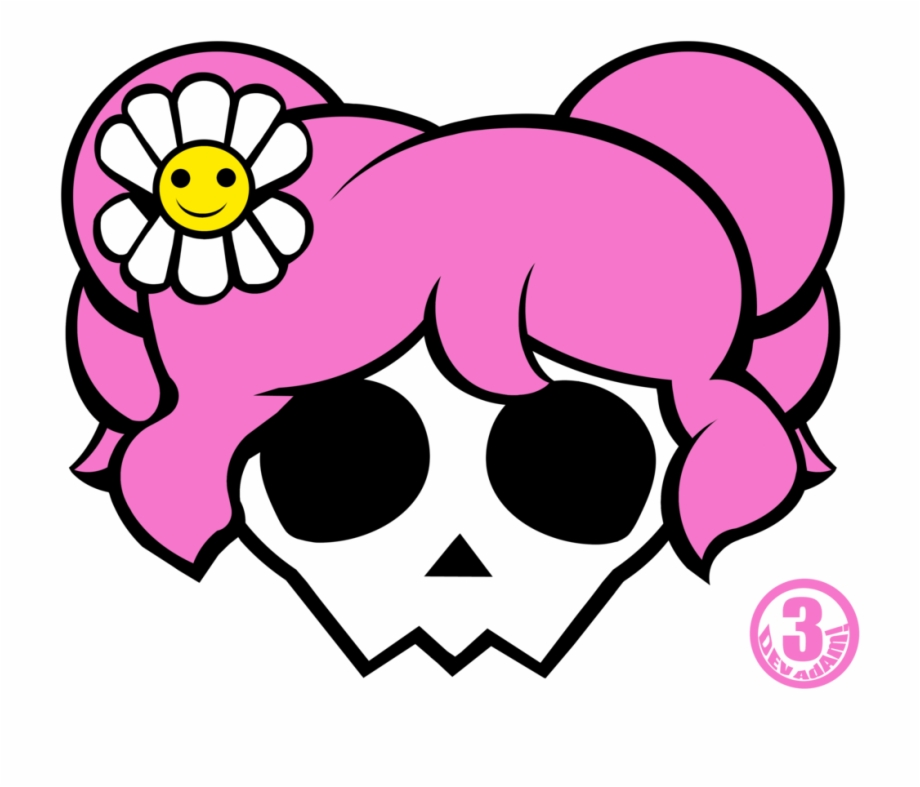 Girly skull clipart jpg free library Girly Skull And Crossbones Pictures Clipart Best - Skull Free PNG ... jpg free library