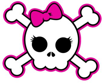 Girly skulls clipart clip art free stock Girly Skull | Halloween in 2019 | Skull tattoos, Skull design, Skull clip art free stock