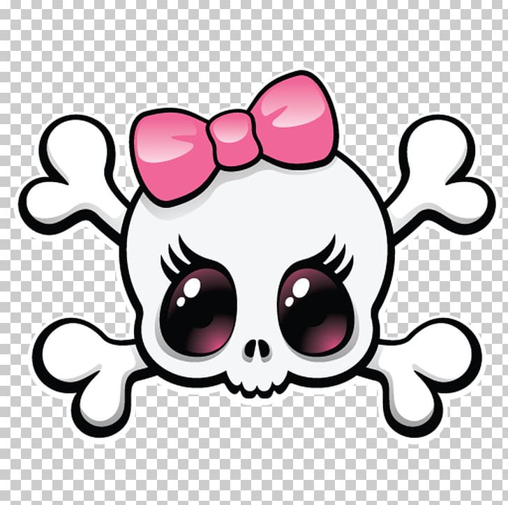 Girly skulls clipart graphic download Human Skull Symbolism Girly Girl PNG, Clipart, Artwork, Bone, Clip ... graphic download
