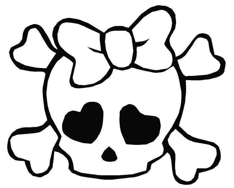 Girly skulls clipart jpg library library Free Girl Skull Cliparts, Download Free Clip Art, Free Clip Art on ... jpg library library