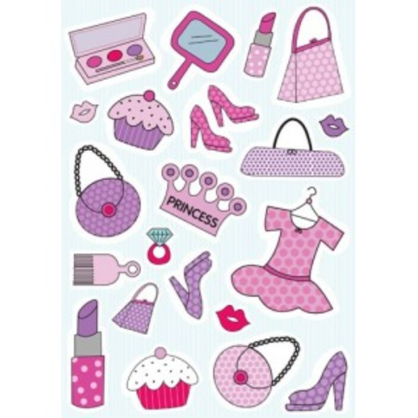 Girly things clipart vector freeuse library Stickers Girly Things | Free Images at Clker.com - vector clip art ... vector freeuse library
