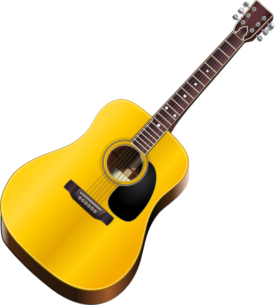 Gitara clipart svg transparent stock Guitar Clip Art at Clker.com - vector clip art online, royalty free ... svg transparent stock