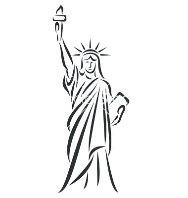 Give me liberty clipart black and white clipart Statue Of Liberty Black And White Drawing | Free download best ... clipart