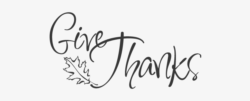 Give Thanks Clipart Black And White PNG Image | Transparent PNG Free ... clipart transparent library
