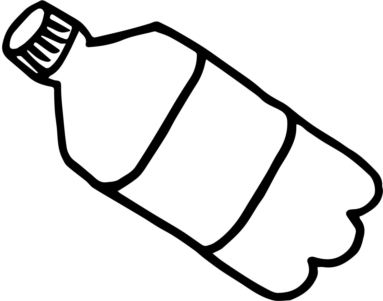 Give your best clipart black and white png transparent download Plastic water bottle black and white clipart kid - Cliparting.com png transparent download