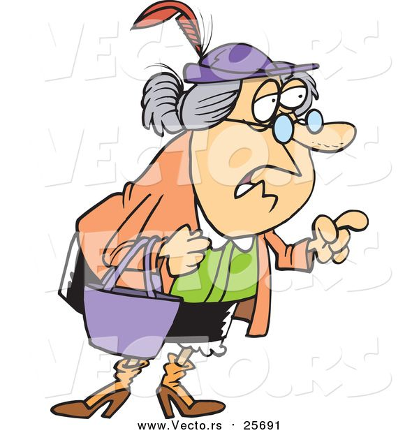 Giving advice clipart jpg transparent library Cartoon Vector of a Wise Old Woman Giving Advice | grandma anger ... jpg transparent library