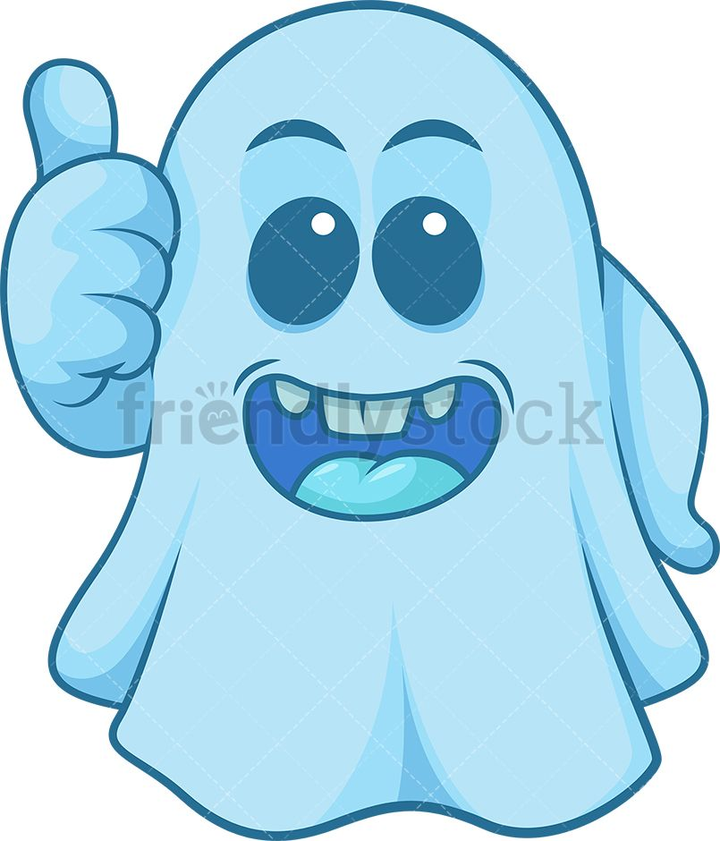 Giving clipart blue picture black and white download Blue Ghost Giving The Thumbs Up in 2019 | Clip Arts | Free vector ... picture black and white download