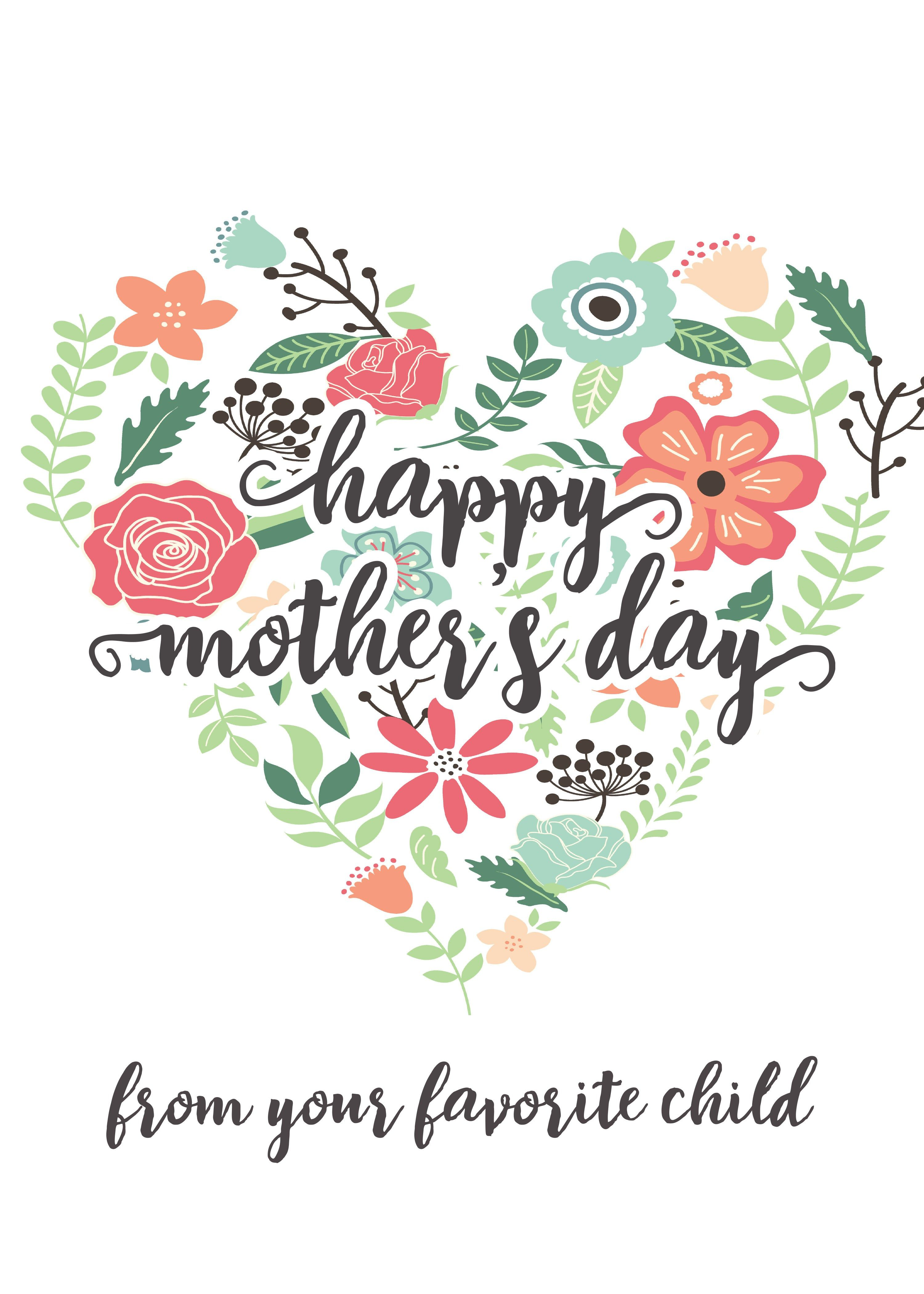 Black and white happy mother s day clipart greetings jpg transparent stock Happy Mothers Day Messages Free Printable Mothers Day Cards ... jpg transparent stock
