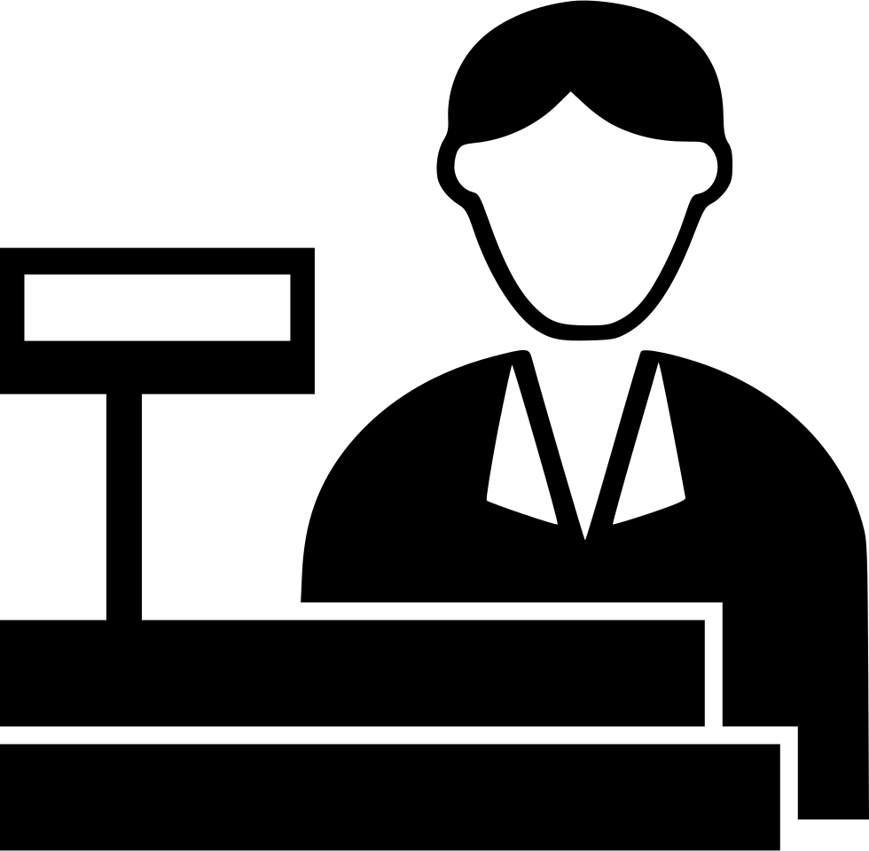 Giving money to cashier clipart black and white clipart free library Cashier Svg Png Icon Free Download (#507209) - OnlineWebFonts.COM clipart free library