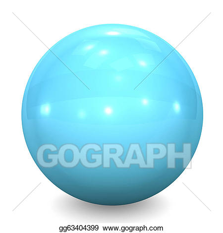 Glass ball clipart clip art transparent library Drawing - Blue glass ball. Clipart Drawing gg63404399 - GoGraph clip art transparent library