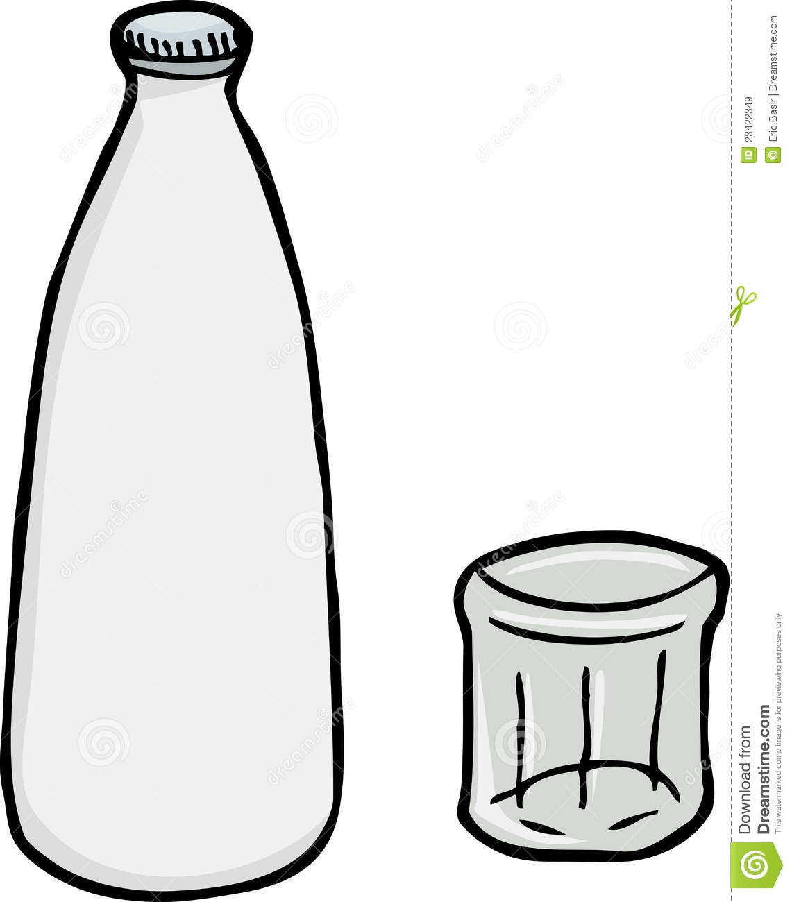 Glass bottle of milk clipart with straw vector freeuse stock Glass Of Milk Drawing | Free download best Glass Of Milk Drawing on ... vector freeuse stock