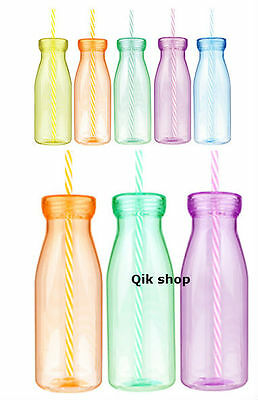 Glass bottle of milk clipart with straw download Plastic Milk Bottle / Milk Shake / Smoothie Bottle With Classic ... download