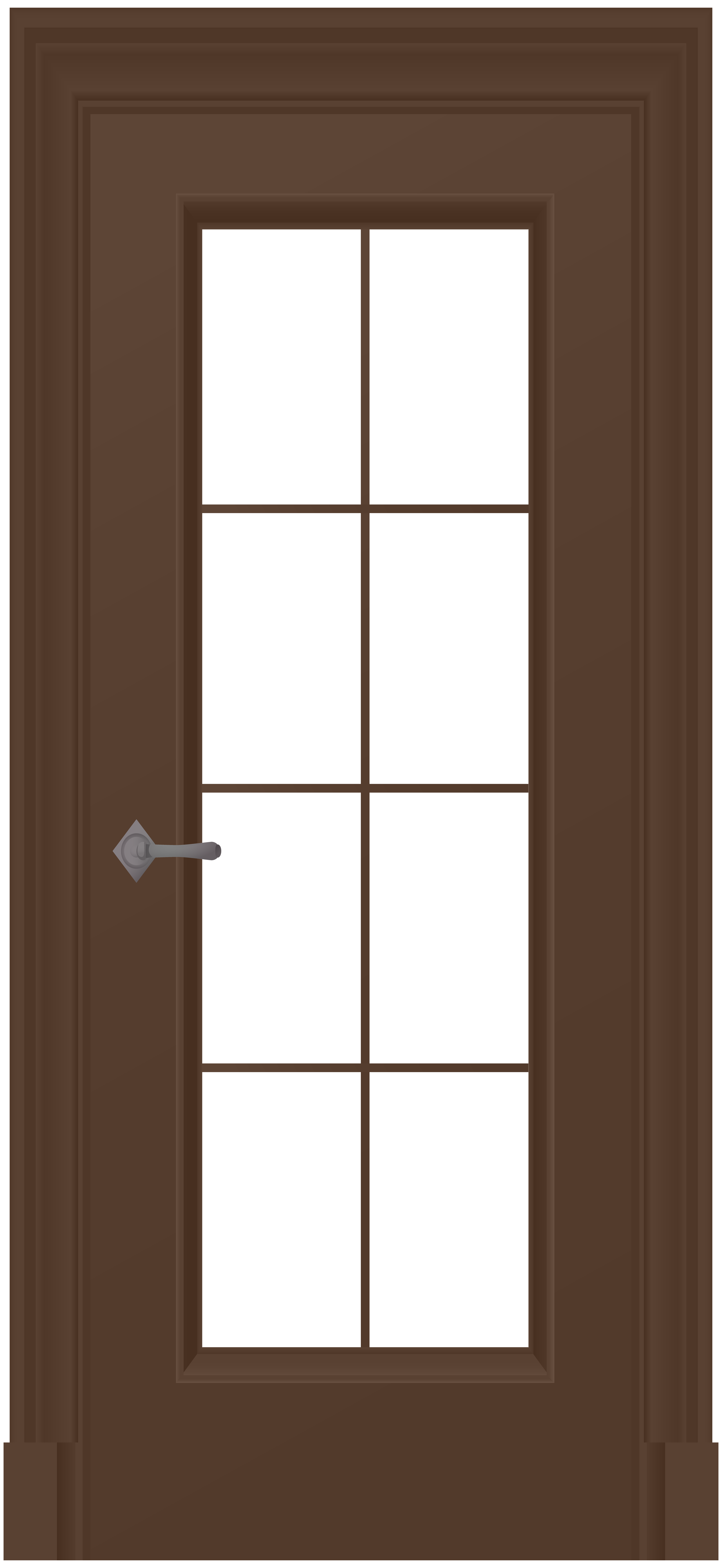 Glass house clipart clip freeuse Brown Door PNG Clip Art - Best WEB Clipart clip freeuse