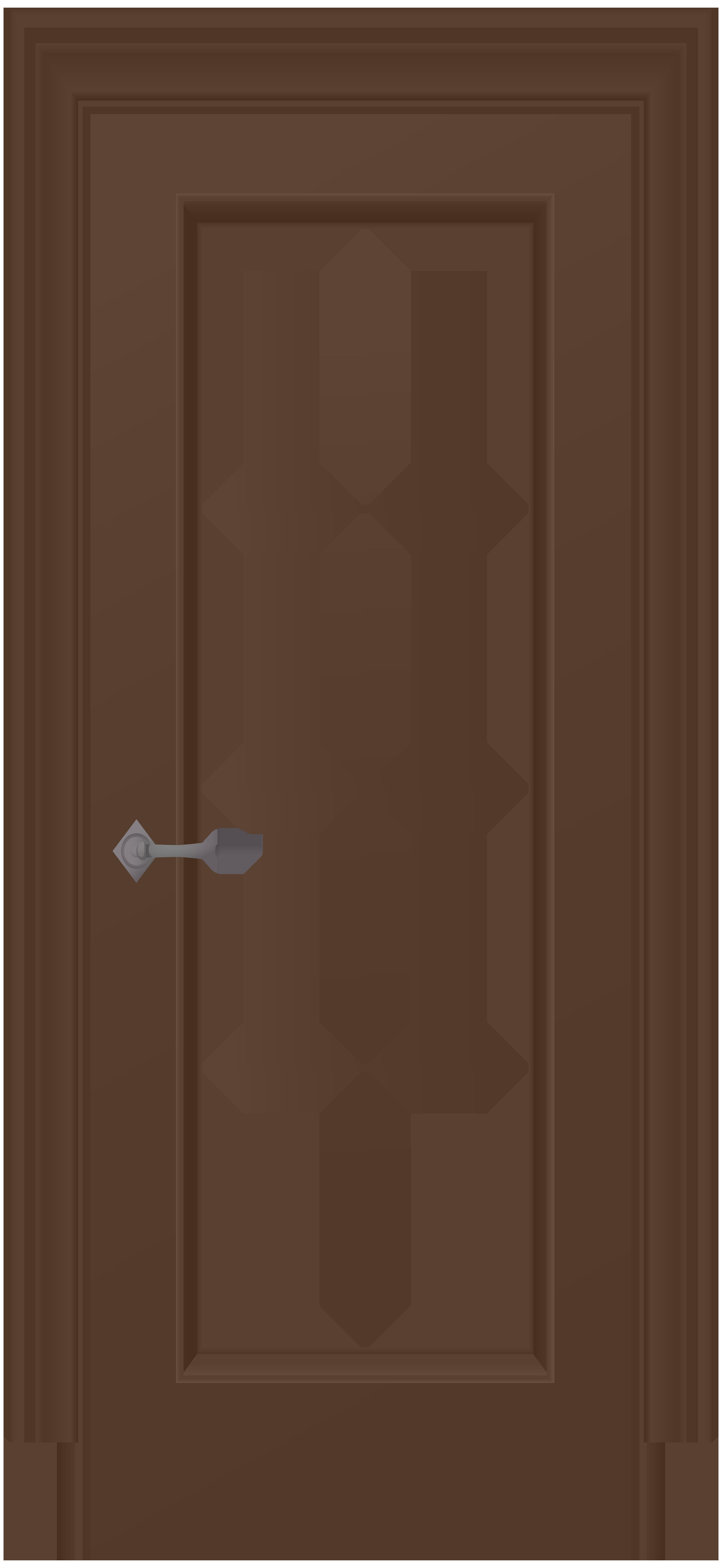 House door clipart svg royalty free Brown Door PNG Clip Art - Best WEB Clipart svg royalty free