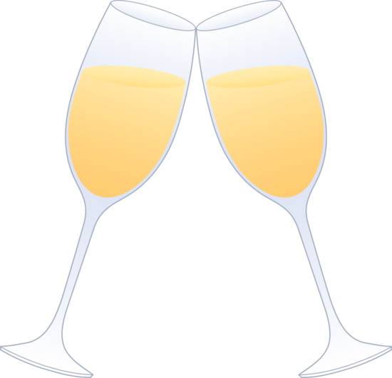 Glass of champagne clipart graphic stock Glasses of Champagne Clinking - Free Clip Art graphic stock