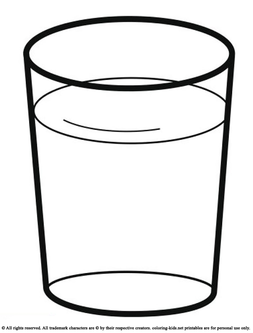 Water clipart in letters svg stock Glass Of Water Clipart Black And White | Letters Example intended ... svg stock