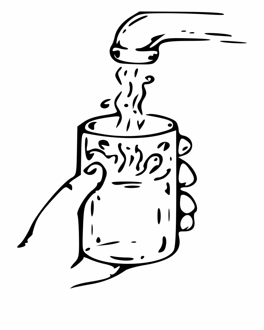 Glass of water black and white clipart png library download Svg Library Clipart Glass Of Water Big Image Png - Water Clip Art ... png library download