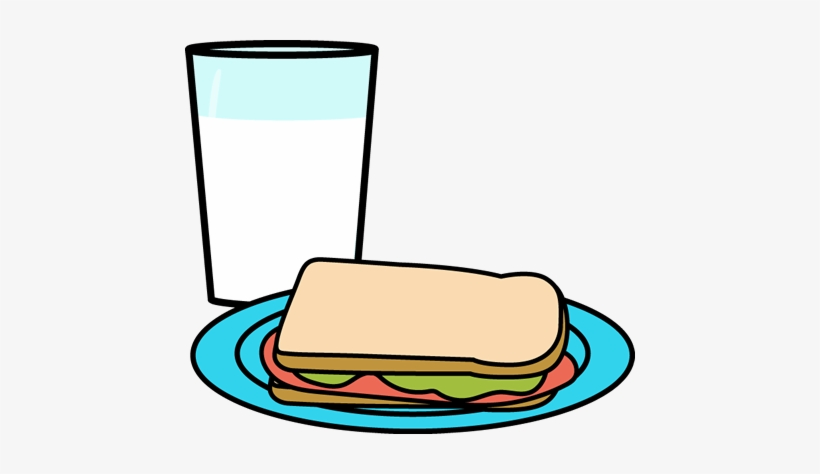 Glass plate clipart clipart royalty free download Cool Glass Of Milk Clipart Glass Of Milk And Sandwich - Cartoon ... clipart royalty free download