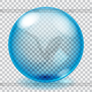 Glass sphere clipart clip art free library Transparent blue glass sphere with scratches - color vector clipart clip art free library