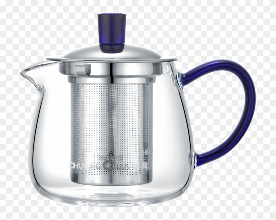 Teapot pouring with steam and sun clipart