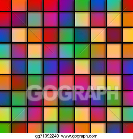 Glass tile clipart clipart royalty free Stock Illustration - Colourful glass tiles. Clipart Drawing ... clipart royalty free