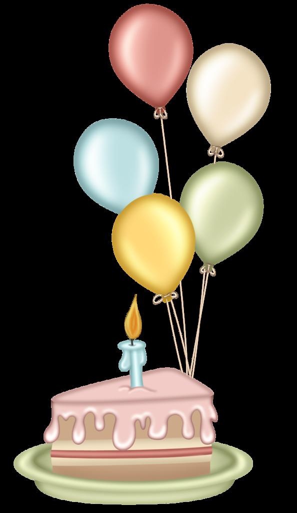 Glckwnsche zum geburtstag clipart transparent stock Cute Clipart ❤ Cake and Balloons   Geburtstagsgrüße/Glückwünsche ... transparent stock