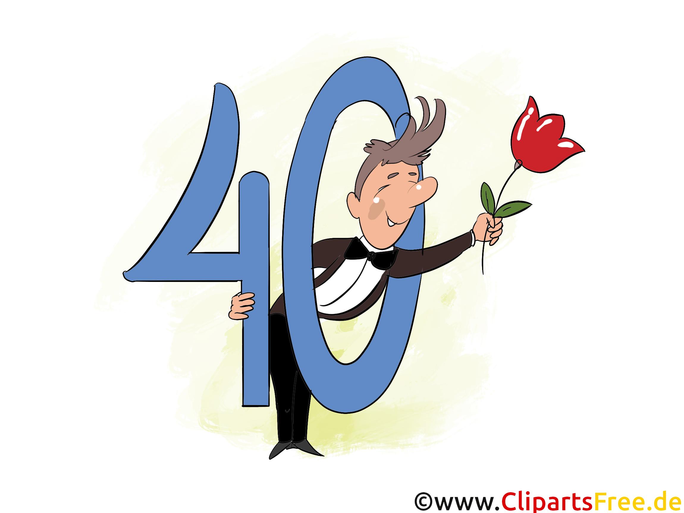 Glckwnsche zum geburtstag clipart clip library download e-Card 40 Jahre Geburtstagsgruss, Glückwunsch, Gratulation ... clip library download