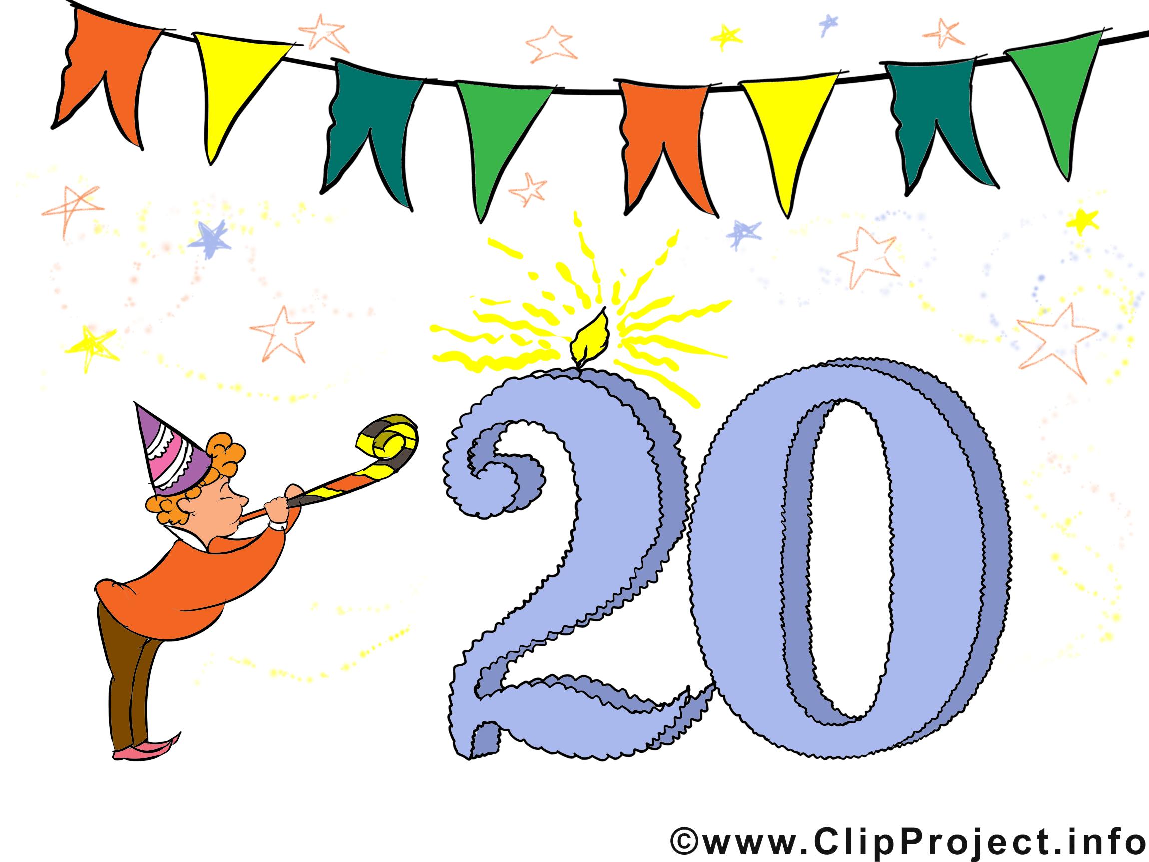 Glckwnsche zum geburtstag clipart image freeuse download Glückwünsche 20. Geburtstag Clipart, Bild, Karte image freeuse download