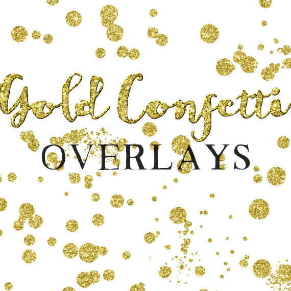 Glitter dots clipart picture freeuse Gold Confetti Overlay Clipart - Glitter Confetti Clipart - Digital ... picture freeuse