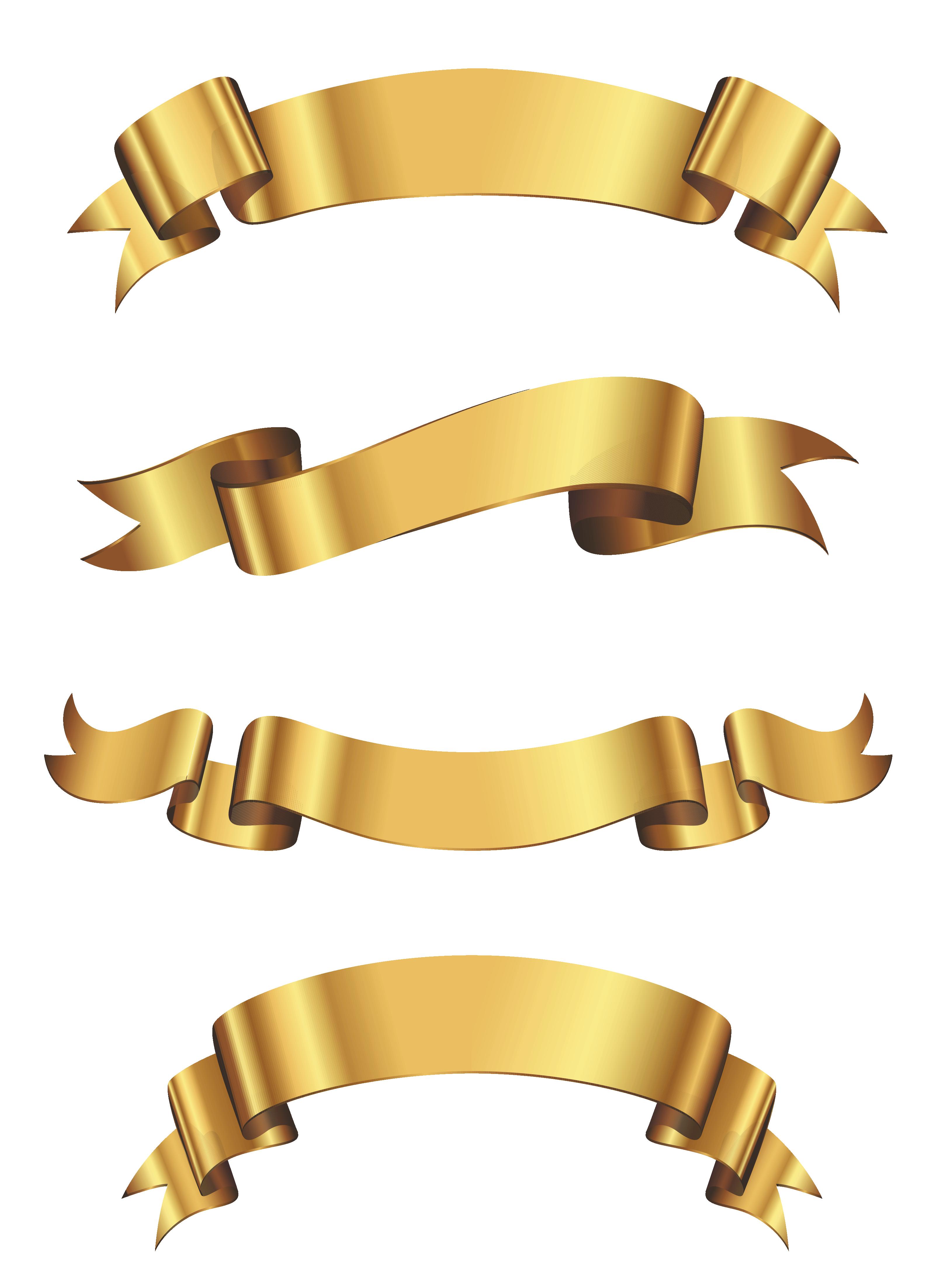 Glitter golden apple clipart vector royalty free stock Golden Banner Set PNG Clipart | Gallery Yopriceville - High-Quality ... vector royalty free stock