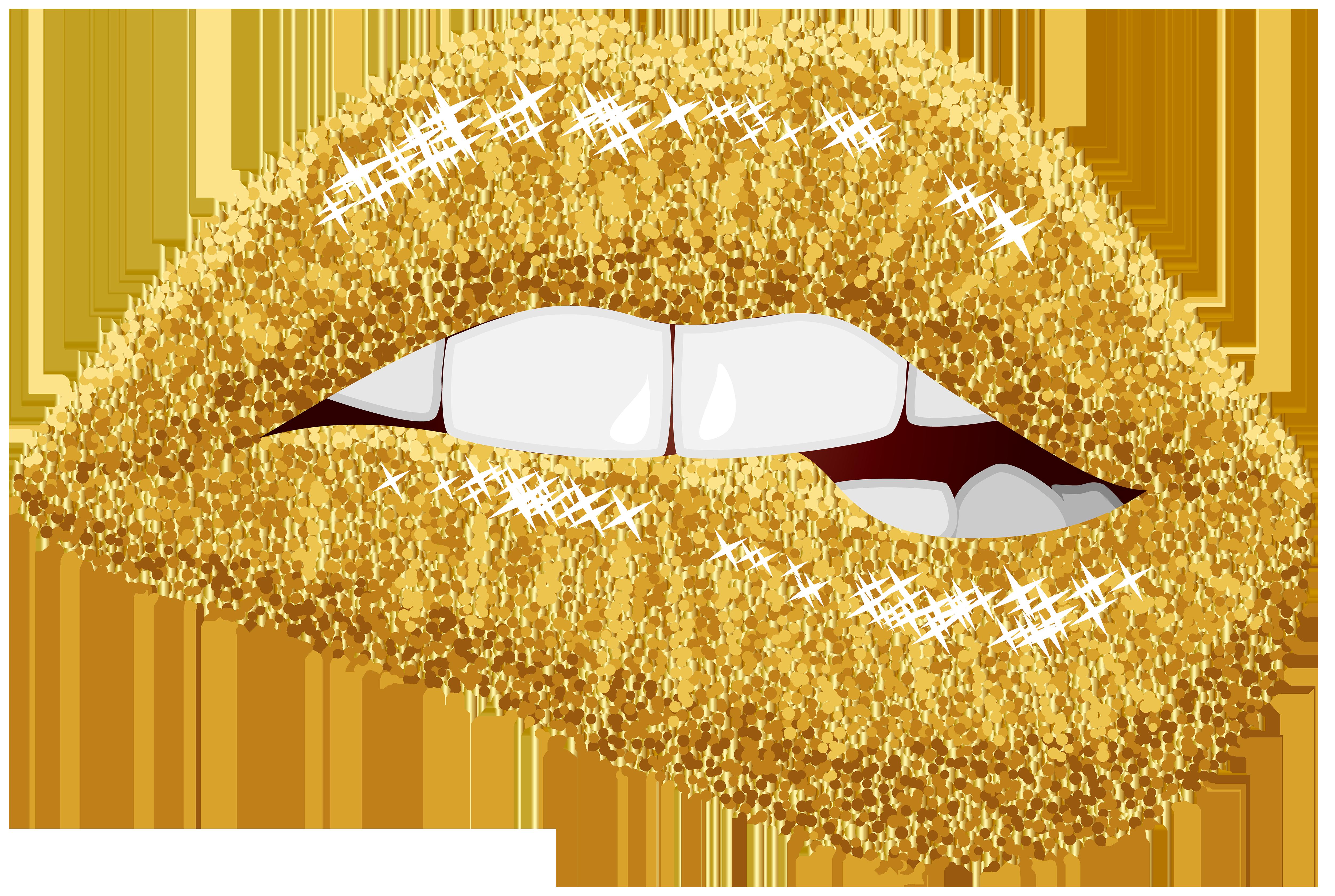 Glitter golden apple clipart image transparent library Lip Gold Clip art - Gold Lips PNG Clip Art Image 5000*3357 ... image transparent library