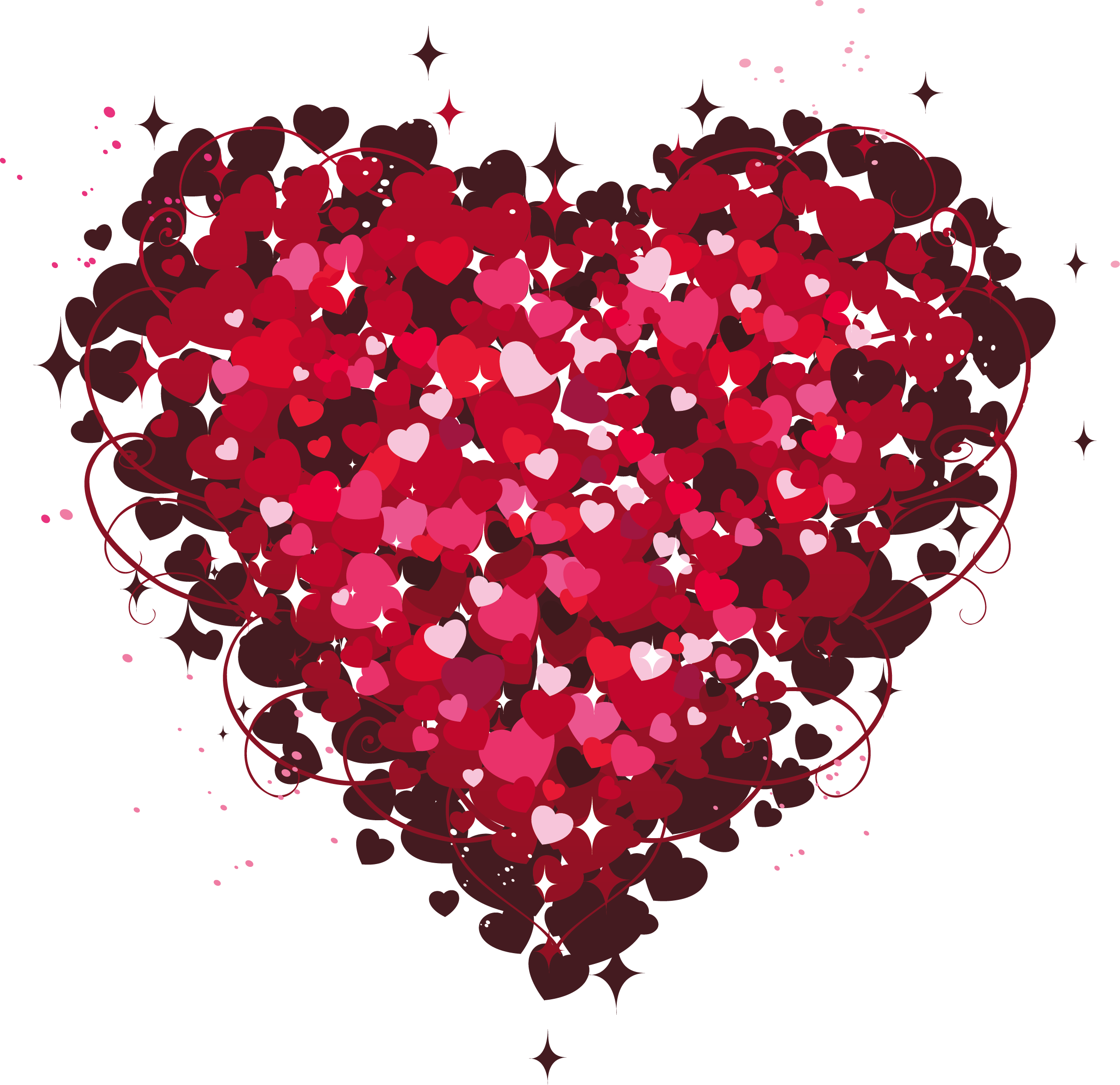 Red glitter heart clipart vector transparent Heart of Hearts PNG Clipart | Gallery Yopriceville - High-Quality ... vector transparent