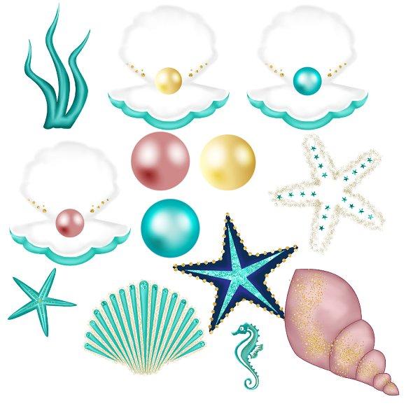 Glitter mermaid clipart clipart black and white stock Glitter Mermaid Clipart clipart black and white stock