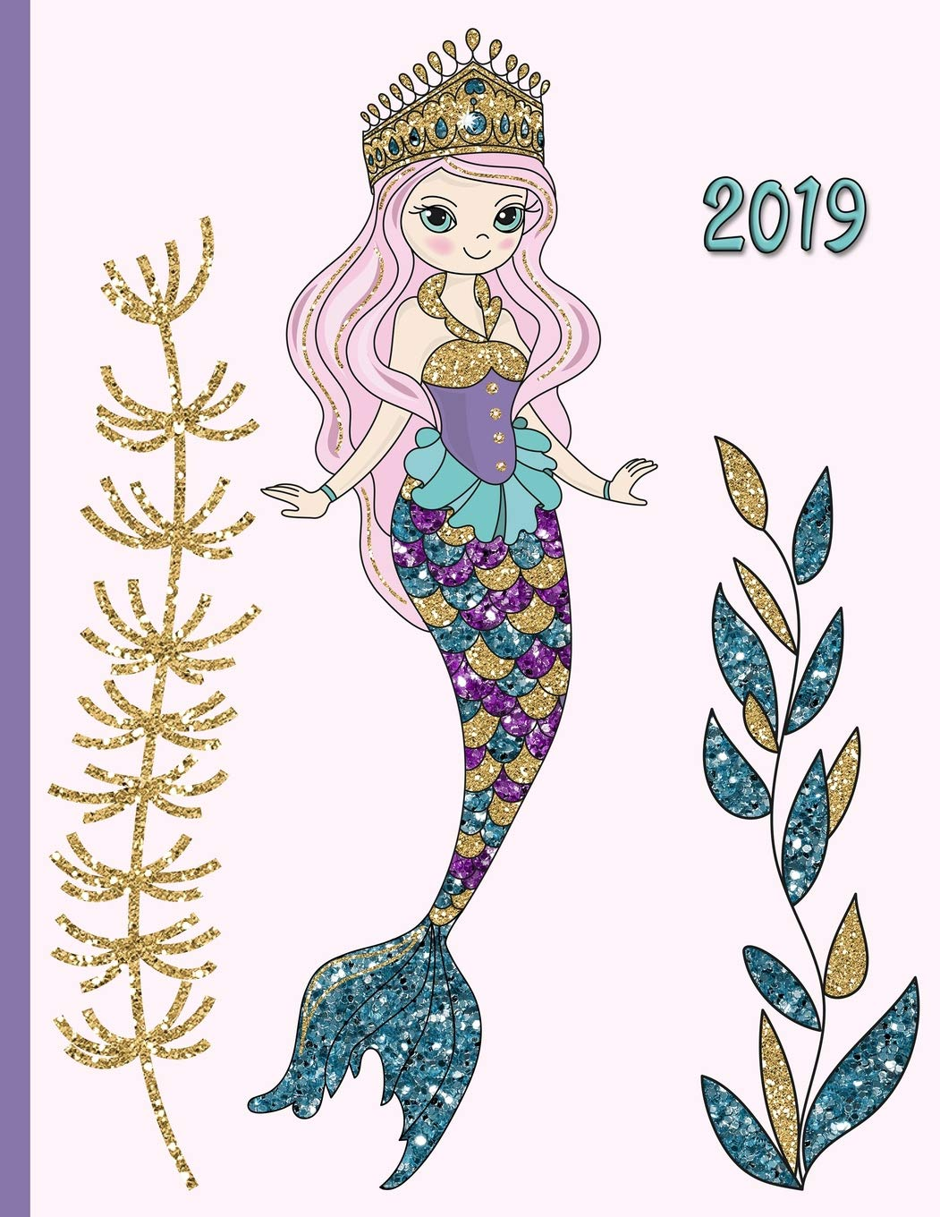 Glitter mermaid clipart clip library stock Glitter Mermaid in the Sea with Seaweed Kelp and Colorful Fish: 2019 ... clip library stock
