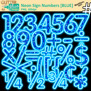 Glitter numbers clipart clipart freeuse library Blue Glitter Neon Glitter Sign Numbers Clip Art {Glitter Meets Glue} clipart freeuse library