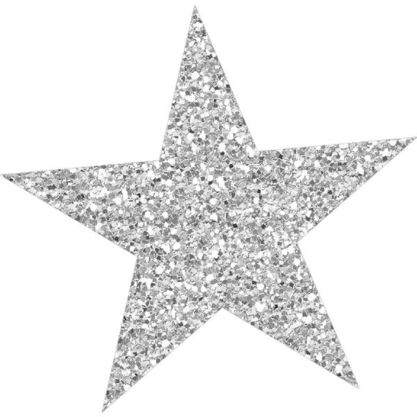 Glitter stars clipart jpg library download Silver sparkly star ❤ liked on Polyvore featuring fillers, stars ... jpg library download