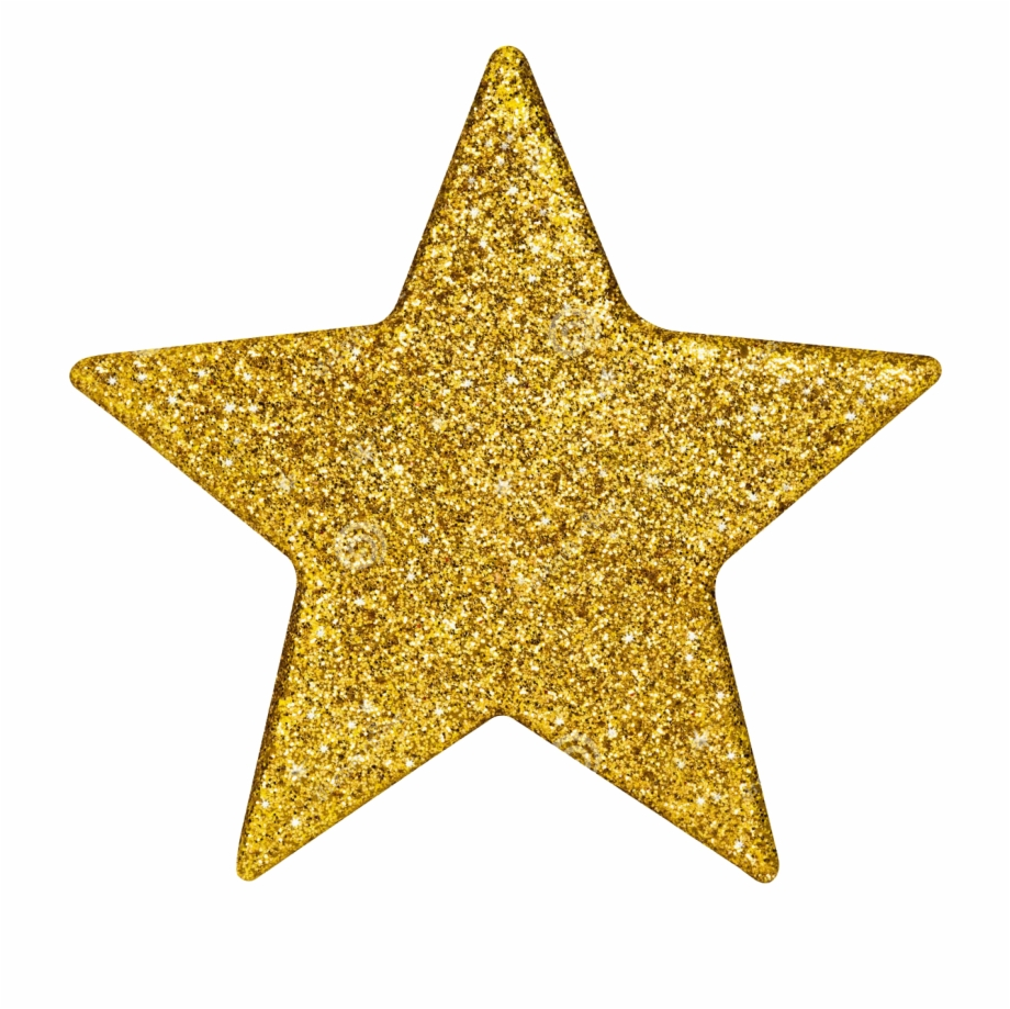 Glitter stars clipart png royalty free Estrela - Gold Glitter Star Png Free PNG Images & Clipart Download ... png royalty free