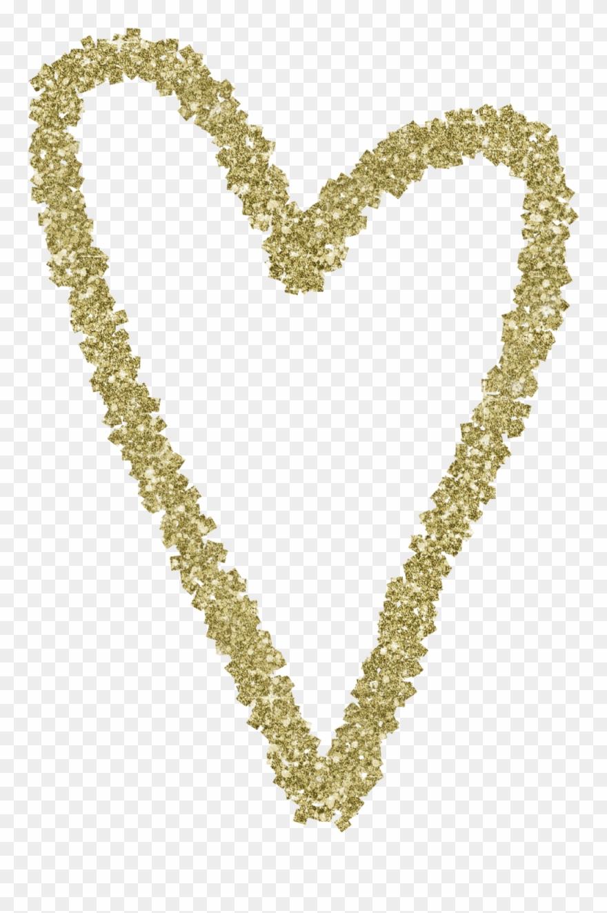Glittery gold heart clipart transparent Gold Glitter Heart 7 - Heart Clipart (#3640382) - PinClipart transparent