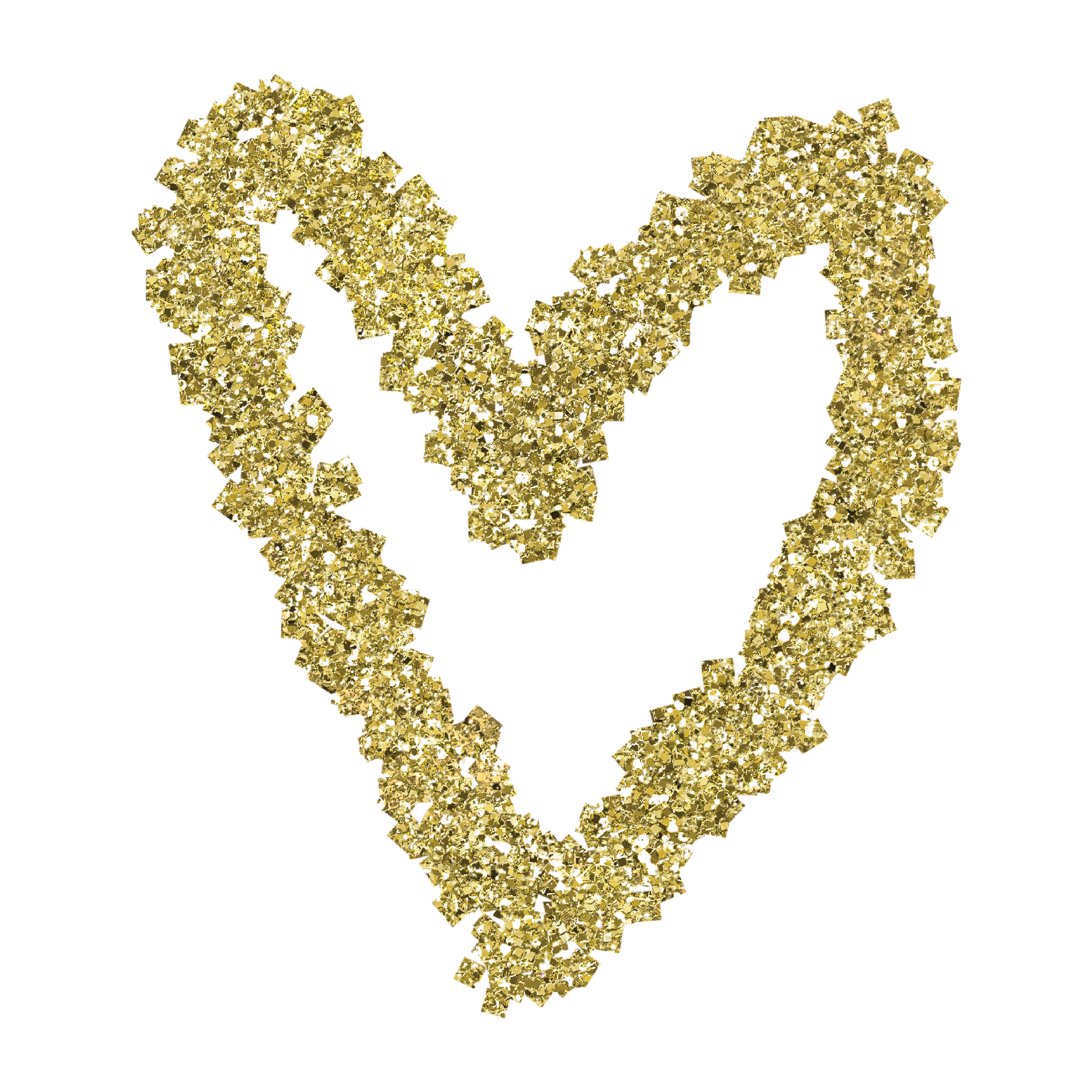 Glittery gold heart clipart svg black and white download Gold Glitter Heart Web Flair Graphic svg black and white download