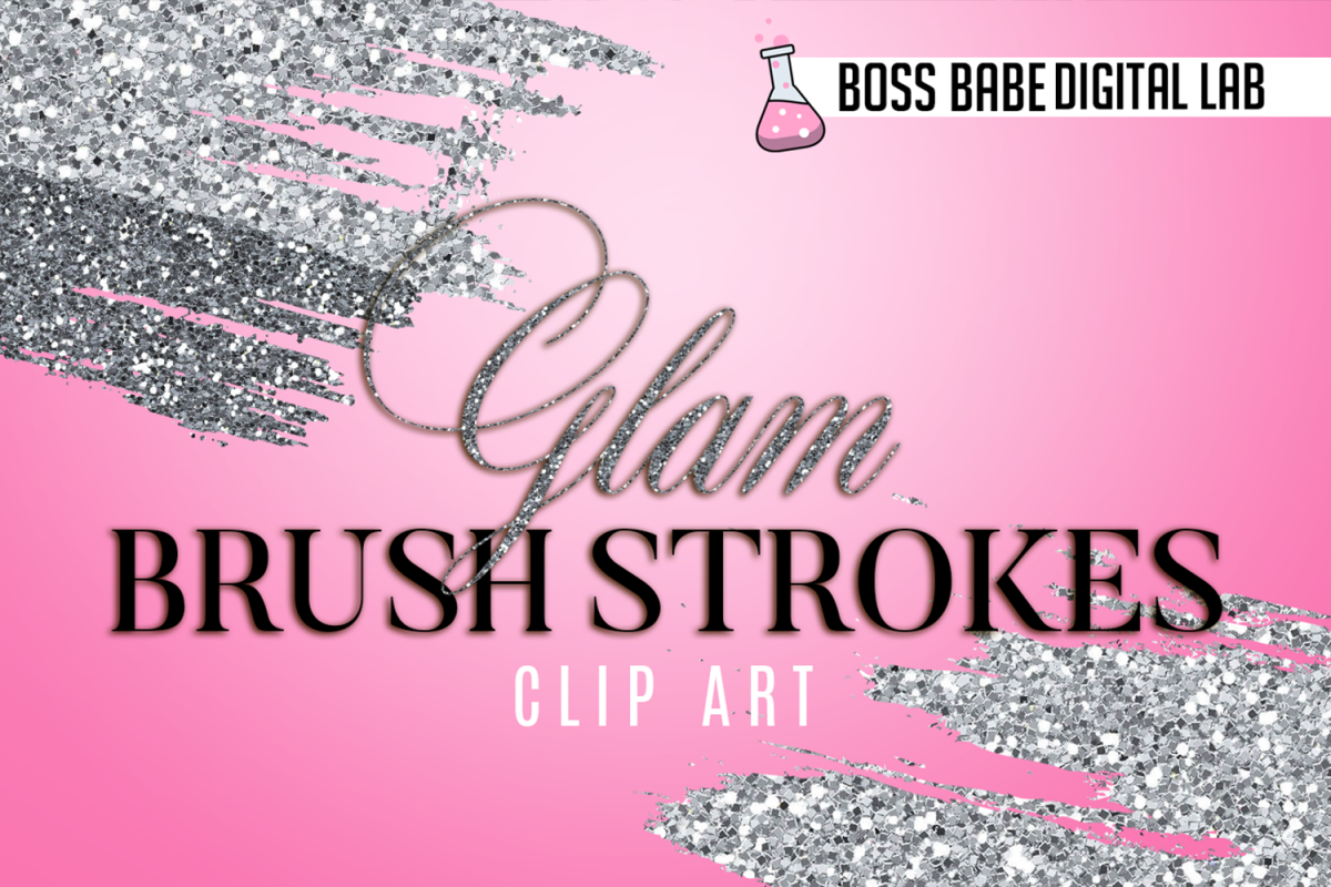 Glitz and glam clipart banner library library Glam and Glitz Brush Stroke Clipart banner library library