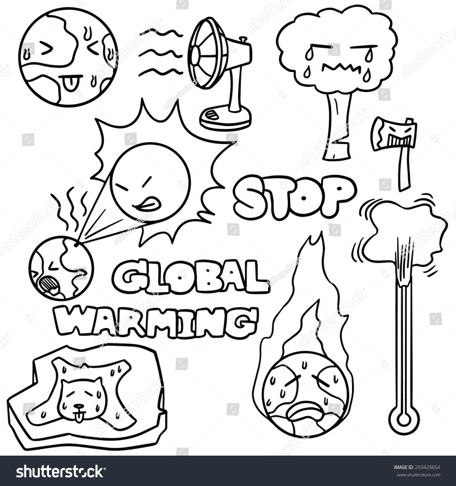 Global warming clipart black and white png royalty free stock Global warming clipart black and white 7 » Clipart Portal png royalty free stock