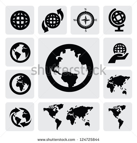 Globe and us map clipart png black and white stock Map Icon Stock Photos, Royalty-Free Images & Vectors - Shutterstock png black and white stock