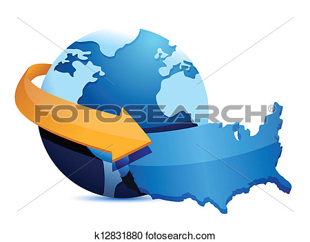 Globe and us map clipart vector transparent library Globe and us map clipart - ClipartFest vector transparent library