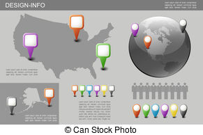 Globe and us map clipart vector black and white download Vector of globe US map illustration design over a white background ... vector black and white download
